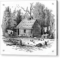 Settler's Log Cabin - 1878 Acrylic Print