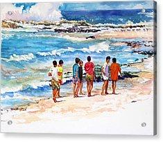 Seven  Amigos Acrylic Print by Estela Robles Galiano