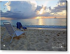 Sunset On Seven Mile Beach Acrylic Print
