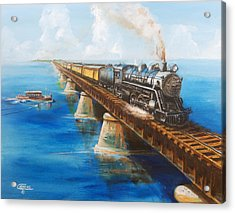 Seven Mile Bridge Acrylic Print