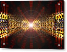 Acrylic Print featuring the drawing Seven Sacred Steps Of Light by Derek Gedney