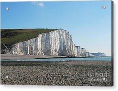 Seven Sisters Chalk Cliffs Acrylic Print