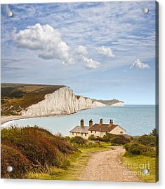 Seven Sisters Cuckmere Haven South Downs Sussex Acrylic Print by Colin and Linda McKie