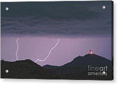 Seven Springs Lightning Strikes Acrylic Print