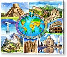 Seven Wonders Of The World Acrylic Print