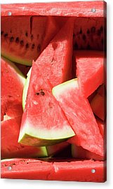 Several Pieces Of Watermelon Acrylic Print