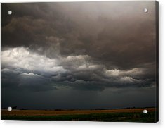 Acrylic Print featuring the photograph Severe Storms Over South Central Nebraska by NebraskaSC