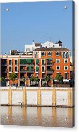 Seville House River View Acrylic Print by Artur Bogacki