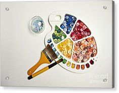 Sew By Numbers Acrylic Print by Catherine MacBride