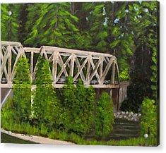 Sewalls Falls Bridge Acrylic Print