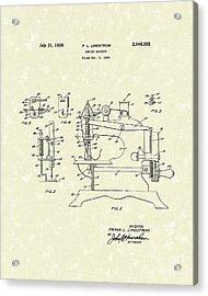 Sewing Machine 1936 Patent Art Acrylic Print
