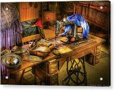 Sewing Machine  - Sewing Machine Iv Acrylic Print by Mike Savad
