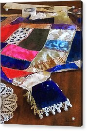 Sewing - Making A Quilt Acrylic Print