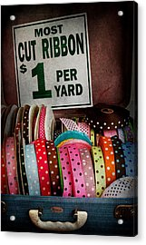 Sewing - Ribbon By The Yard Acrylic Print by Mike Savad