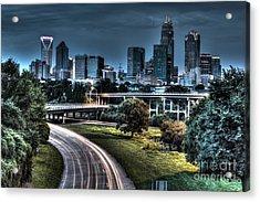 Sexy Skyline Of Charlotte  Acrylic Print by Robert Loe