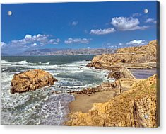 Sf Beach In Hdr Acrylic Print