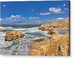 Sf Beach In Hdr Acrylic Print by Matthew Bamberg