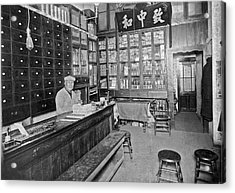 Sf Chinese Apothecary Acrylic Print by Underwood Archives