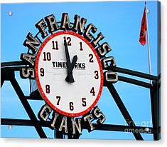San Francisco Giants Baseball Time Sign Acrylic Print by Tap On Photo