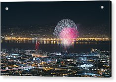 Sf Giants Post-game Fireworks Show Acrylic Print