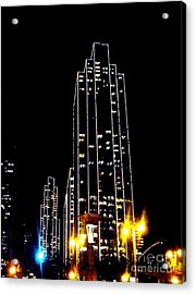 Sf Night Light Up Acrylic Print