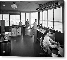 Sfo Control Tower Acrylic Print by Underwood Archives