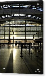 Acrylic Print featuring the photograph Sfo International Terminal From The Inside by Alex King