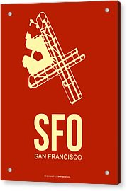 Sfo San Francisco Airport Poster 2 Acrylic Print