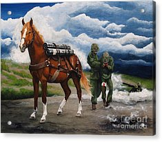Sgt. Reckless Acrylic Print by Pat DeLong
