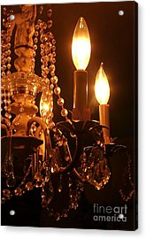 Shabby Chandelier Bling 2 Acrylic Print by Margaret Newcomb