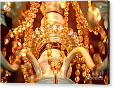 Shabby Chandelier Bling 4 Acrylic Print by Margaret Newcomb
