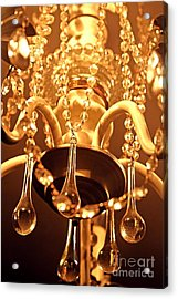 Shabby Chandelier Bling Acrylic Print by Margaret Newcomb