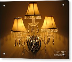 Shabby Wall Sconce Acrylic Print by Margaret Newcomb