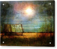 Acrylic Print featuring the photograph Shack On The Prairie Corner  by Sandra Foster