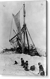 Shackletons Endurance Trapped In Pack Acrylic Print by Science Source