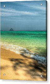 Shaded Beach Acrylic Print by Adrian Evans