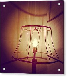 Shadeless Lamp  Acrylic Print