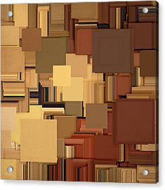Shades Of Brown Acrylic Print by Lourry Legarde