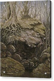 Acrylic Print featuring the painting Shades Of Froud by Megan Walsh