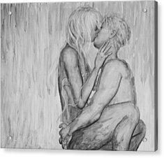 Shades Of Grey - Wet Romance Acrylic Print by Nik Helbig