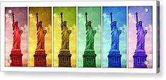 Shades Of Liberty Acrylic Print