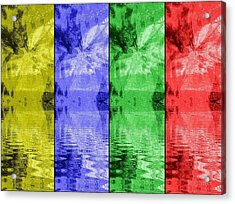 Shades Of Waves Acrylic Print by Kelly McManus
