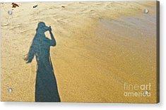 Shadow And Sand Raw Acrylic Print