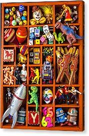 Shadow Box Full Of Toys Acrylic Print by Garry Gay