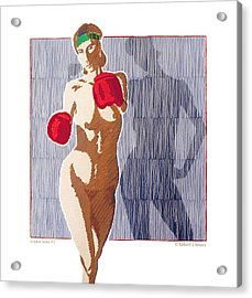 Shadow Boxer - 1 Acrylic Print by Robert G Mears