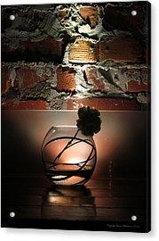 Shadow Flower Acrylic Print by Leena Pekkalainen