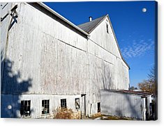 Shadow On White Barn Acrylic Print