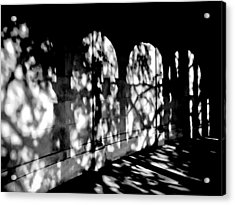 Shadow Play - Black And White Acrylic Print