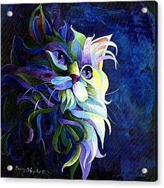 Shadow Puss Acrylic Print by Sherry Shipley