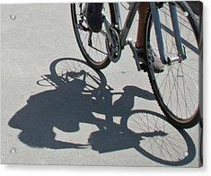 Shadow Rider Acrylic Print by Susan OBrien
